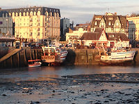 The fishing port of Trouville on sea